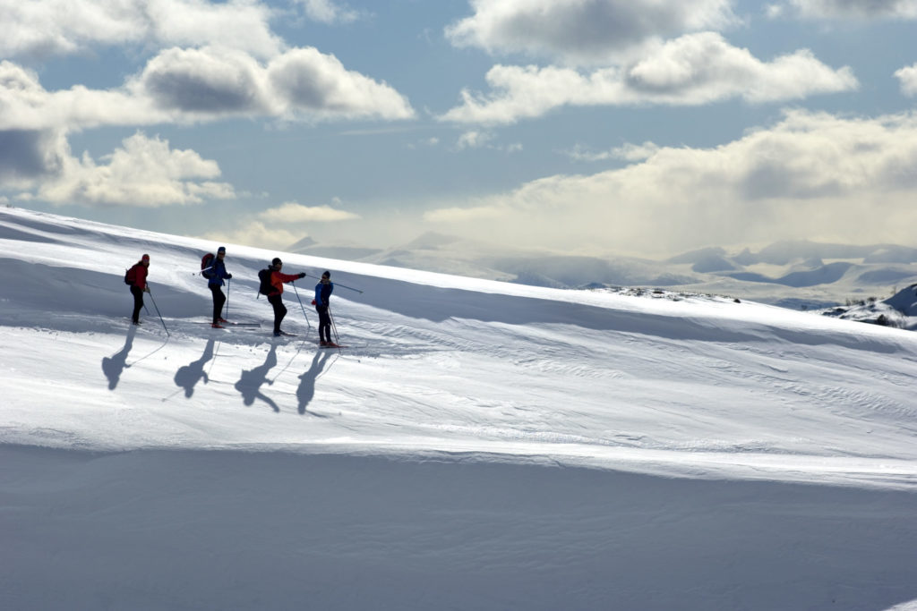 Backcountry skiing in Rondane National Park